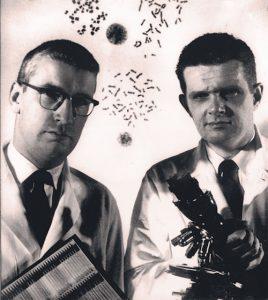 De ontdekkers van het Philadelphiachromosoom. Links Peter Nowell, rechts David Hungerford